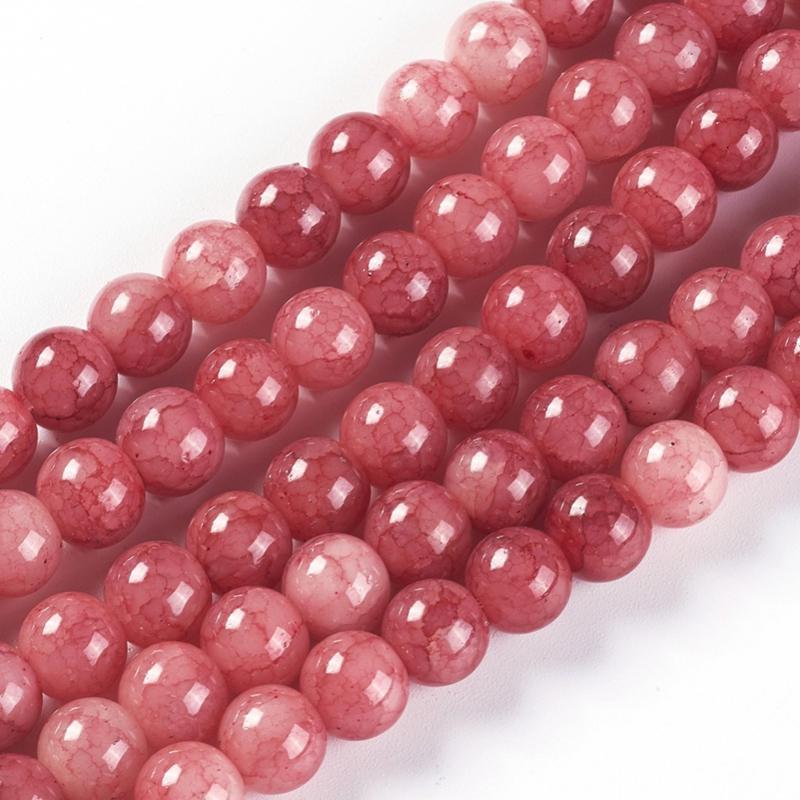 Glaskralen crackle red 8mm