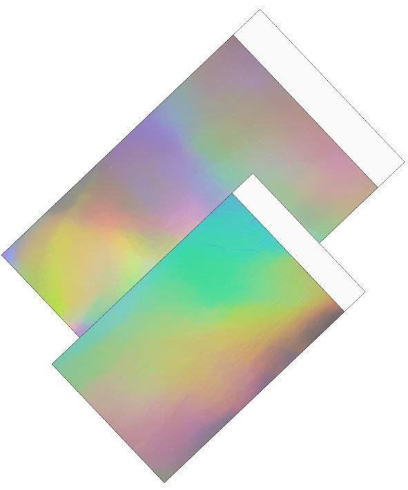 Cadeauzakjes Holographic rainbow 12x19cm