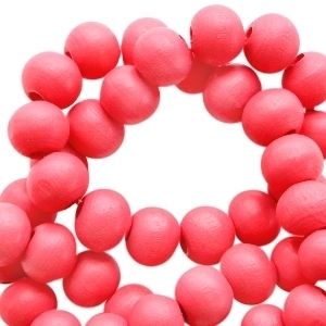 Houten kraal fiesta red 6mm