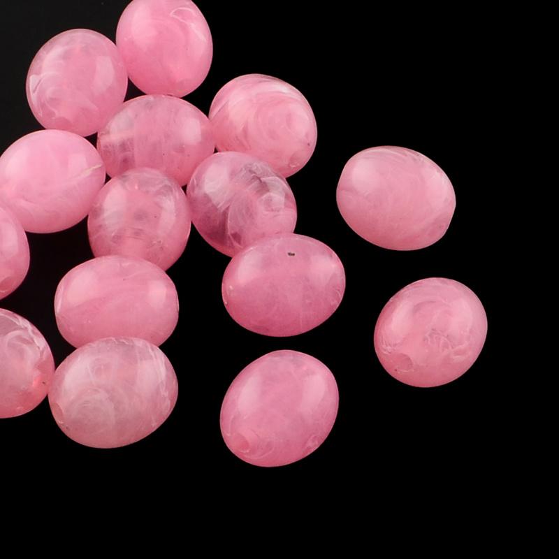 Acryl perlen gemstone look oval hot pink