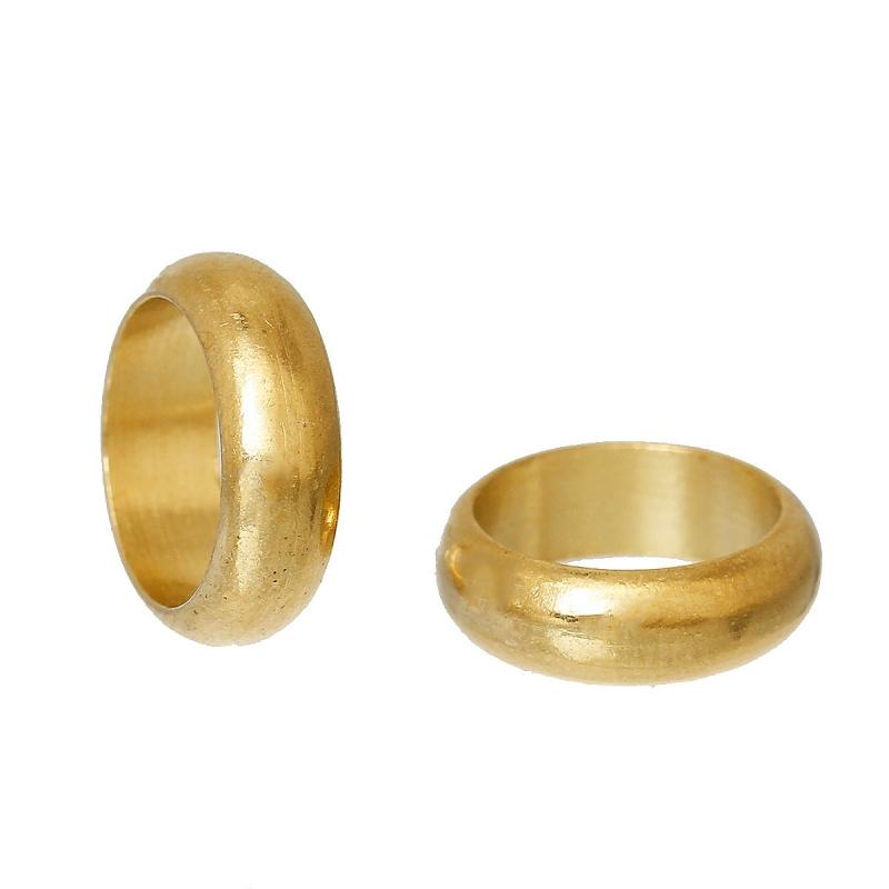 Slider perlen rund gold