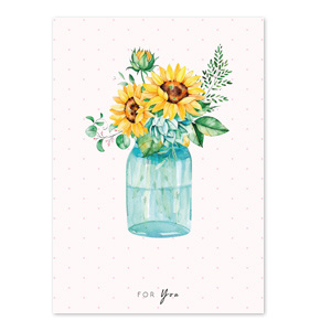 Sieraden kaartjes 'for you' Yellow-blue