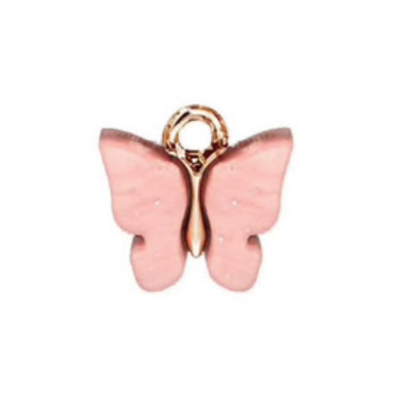 Bedel vlinder roze goud