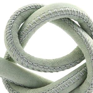Trendy gestikt koord silk style 6x4mm Velvet sage green