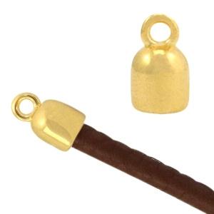Eindkapjes metaal goud (nikkelvrij) (DQ)