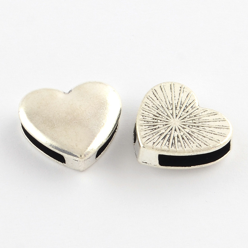 Slider hart zilver