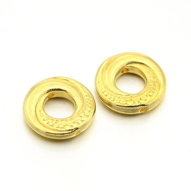 Metall perlen donut gold (bulk)