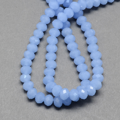 Facet kralen imi jade blue 4x3mm