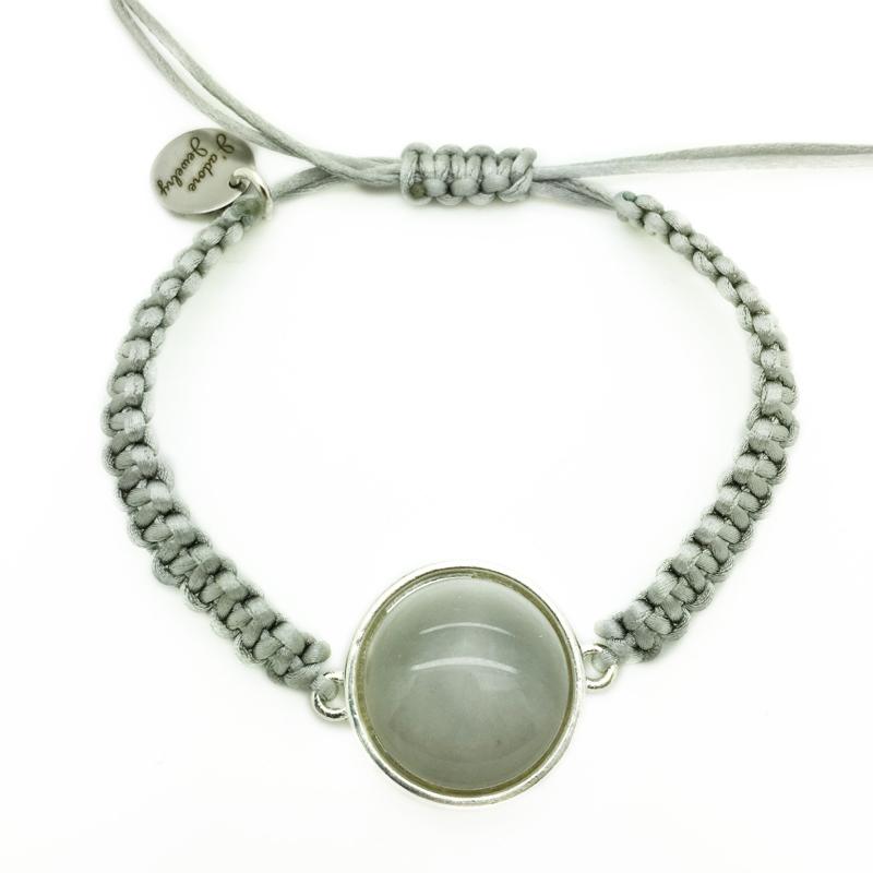 Armbandje ''polaris'' - grey & zilver