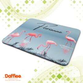 Muismat 'Flamingo' met naam