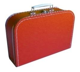 Kinder koffertje 30cm rood