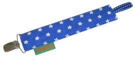Speenkoord blauw met wit sterretje