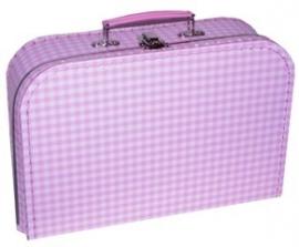 Kinder koffertje 30cm baby roze ruitje