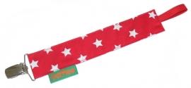 Speenkoord rood met witte ster