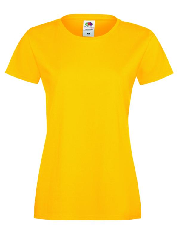 Sofspun woman geel