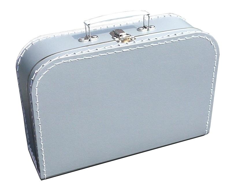Kinder koffertje 30cm zilver