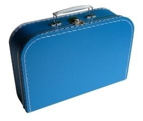 Kinder koffertje 30cm blauw
