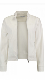 Fake leather jacket white