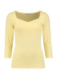 Basic 3/4 mouw tshirt yellow