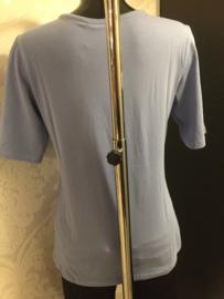 T-shirt lavendel blauw lengte tot ellebogen