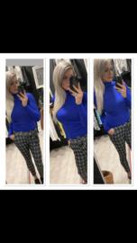 Broek ruit blue