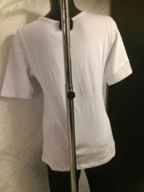 T-shirt wit lengte tot ellebogen