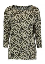 Soft trui zebra print