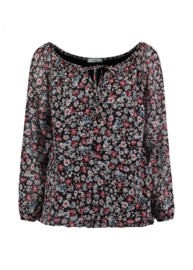 Blouse flower lavendel