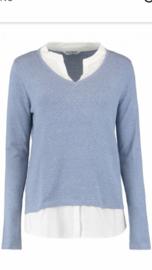 Trui blouse lichtblauw