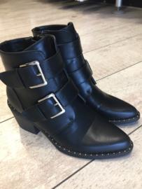 Boots black gesp