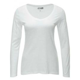 Basic T-shirt wit vhals