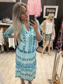 Dress bohemian aqua