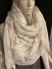 Sjaal wit ruit