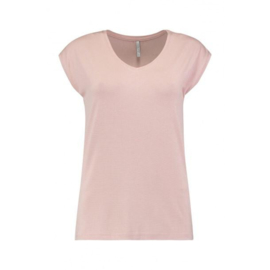 Top basic luxe rose