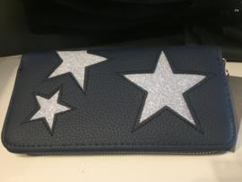 Portemonnee blauw ster