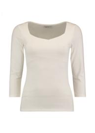Basic 3/4 mouw tshirt white