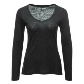 Basic shirt zwart vhals