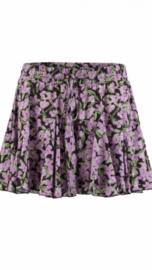 Skort rok lavendel print