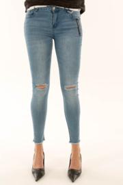 Jeans scheur knie