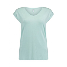 Top basic luxe mint