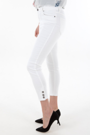 7/8 white High waist jeans
