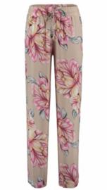 Summer pants beige flowers