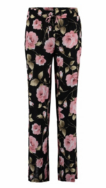 Summer pants black flower