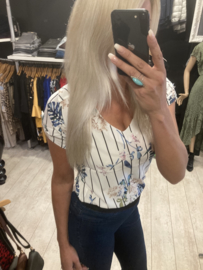 Top stripe flower print