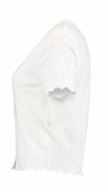 Shirt vhals button white