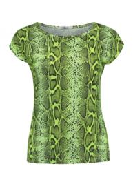 Hailys shirt neon groen slang