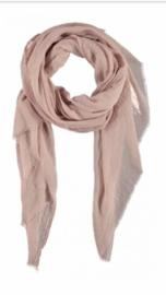 Sjaal effen rose