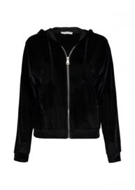 Sweater black rits