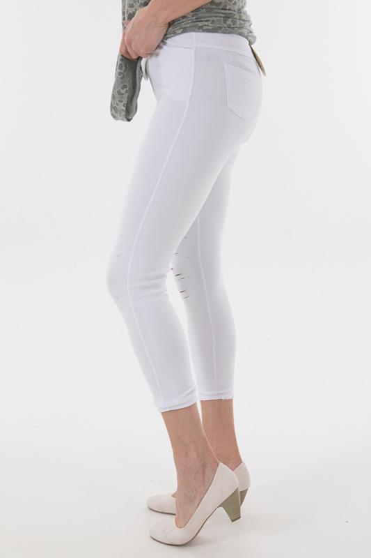 hele collectie bespaar tot 80% online bestellen Tregging wit studs / scheuren | Broeken en jeans | House of ...