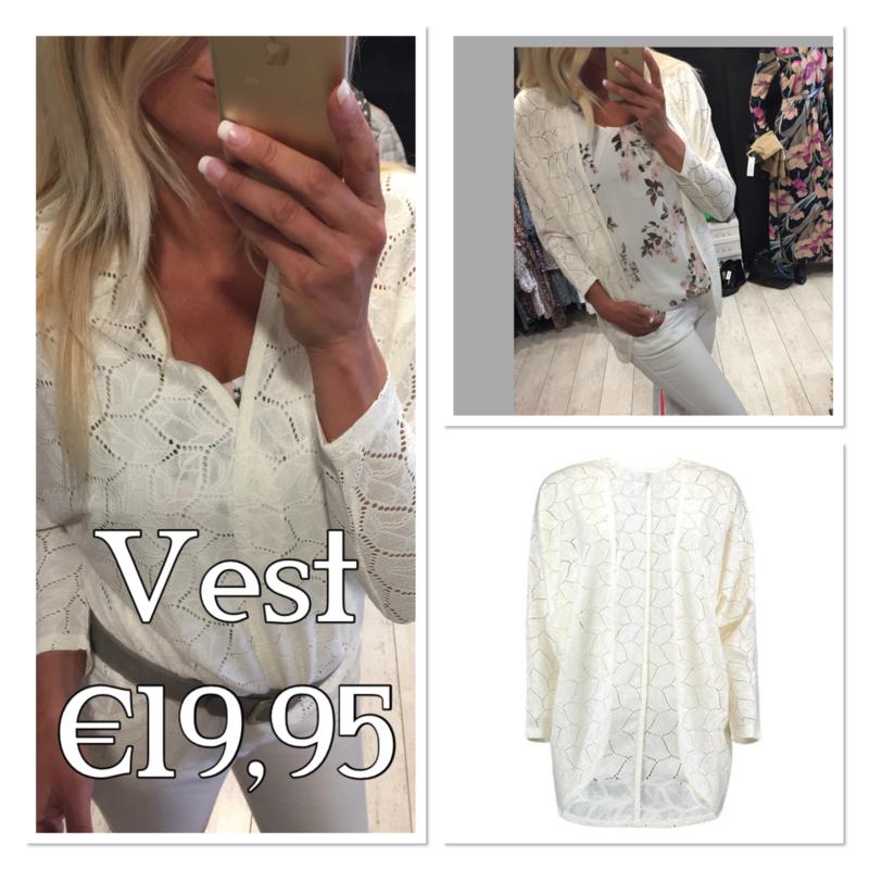 Vest lien offwhite